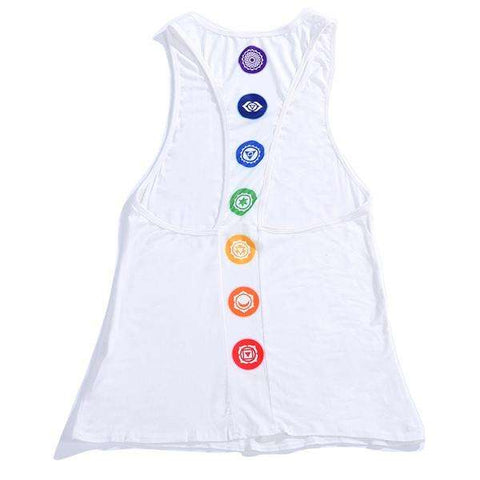 Racerback Tank Top With Icons