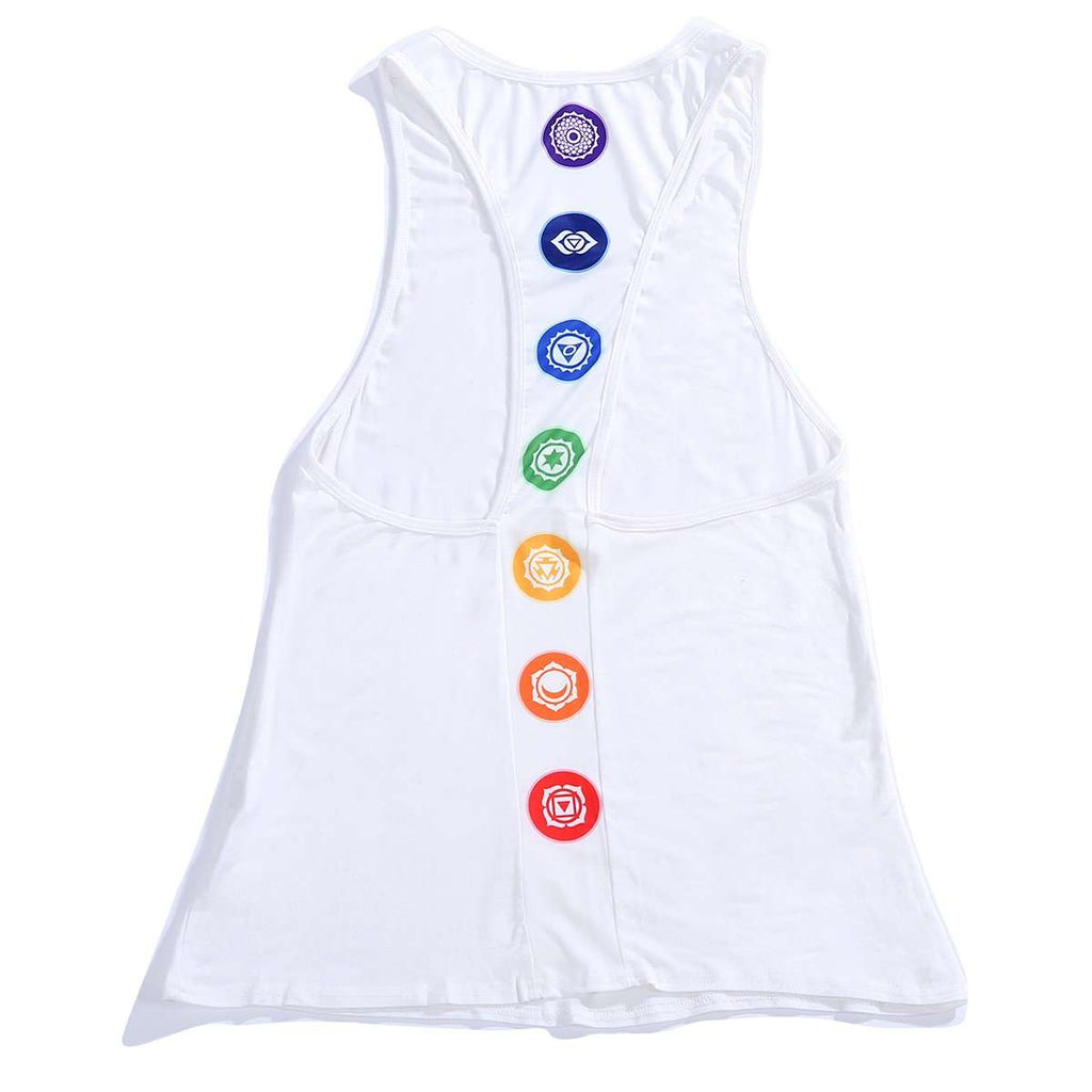 Racerback Tank Top With Icons,Activewear,Mad Style, by Mad Style