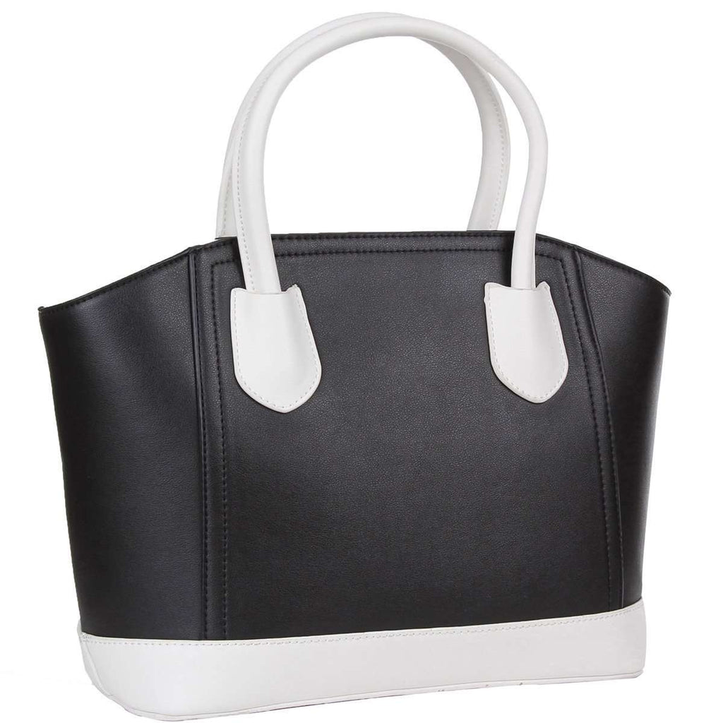 Reaction Tote Bag Black White Handbag