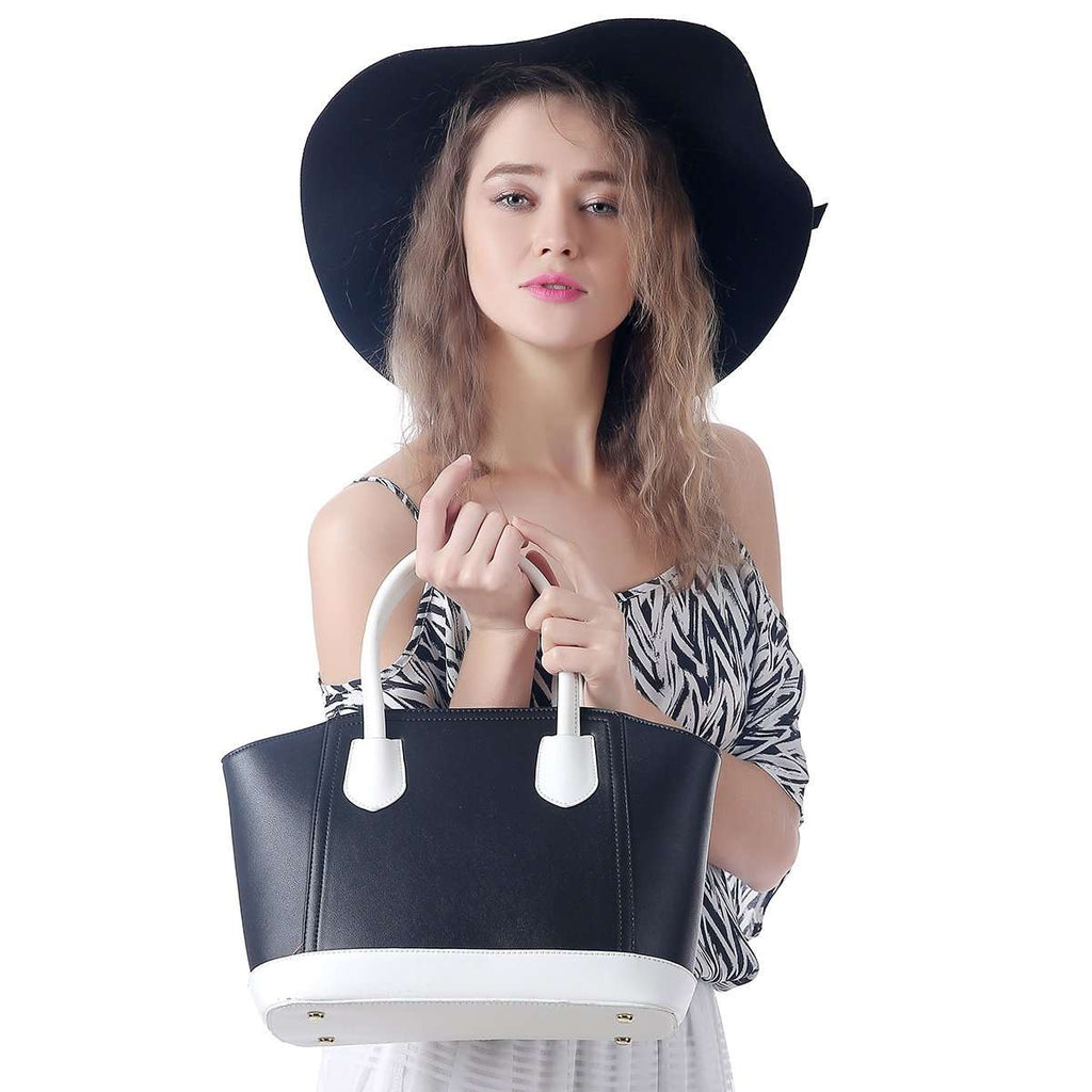 Reaction Tote Bag Black White Handbag,Totes,Mad Style, by Mad Style