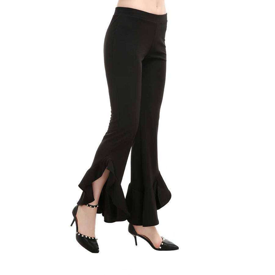 Ruche Bottom Flair Leggings,Bottoms,Mad Style, by Mad Style