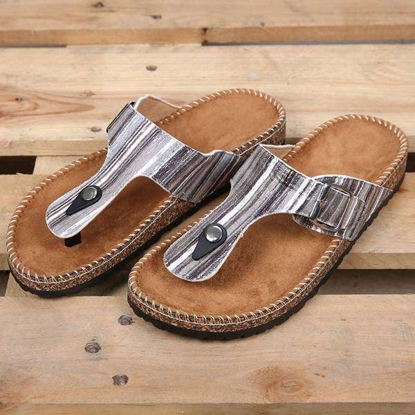 Sandals Pencil Stripe Slides (Grey),Footwear,Mad Style, by Mad Style