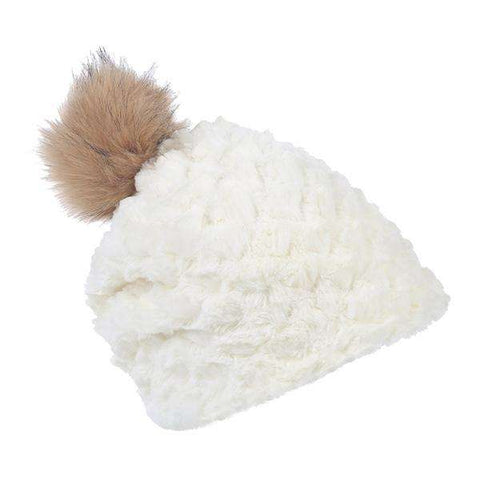 Scaled Fur Pom Hat