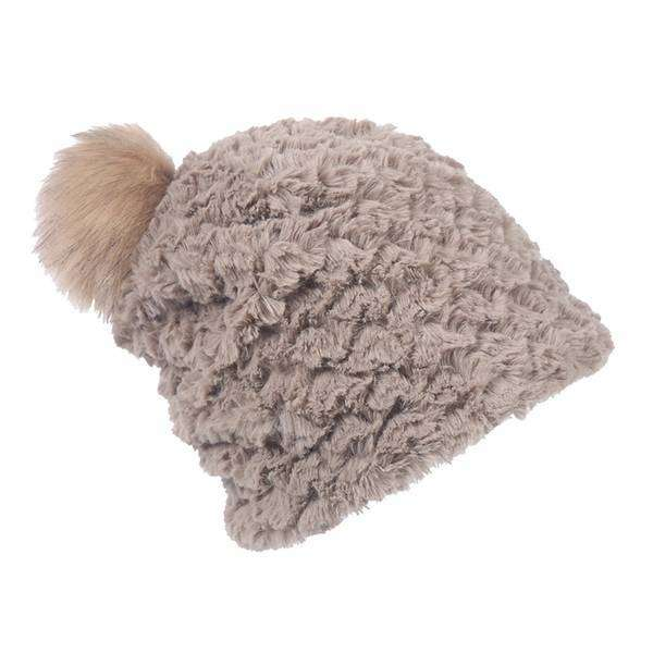 Scaled Fur Pom Hat,Hats and Hair,Mad Style, by Mad Style