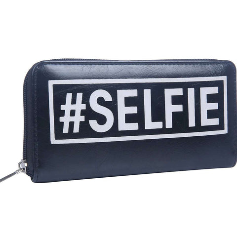 Selfie Zipper Clutch Bag