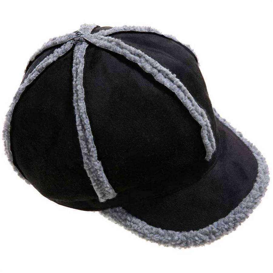 Shearling Newsboy,Hats and Hair,Mad Style, by Mad Style
