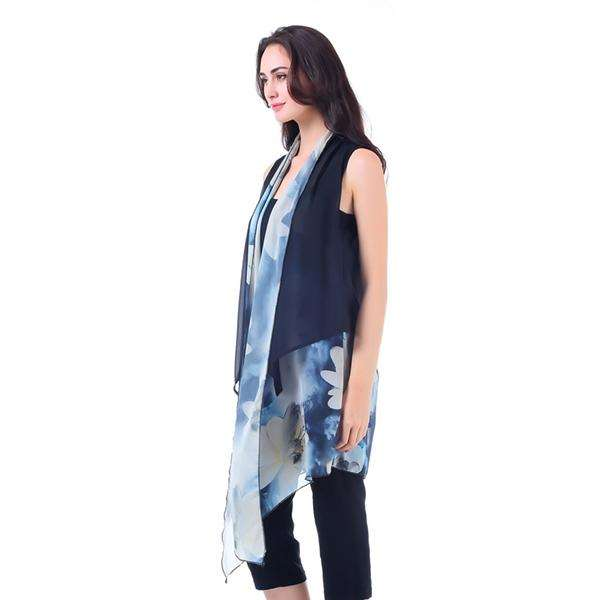 Sheer Watercolor Long Vest,Outerwear,Mad Style, by Mad Style