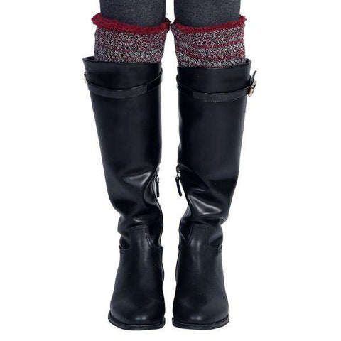 Sherpa Blended Knit Boot Cuff