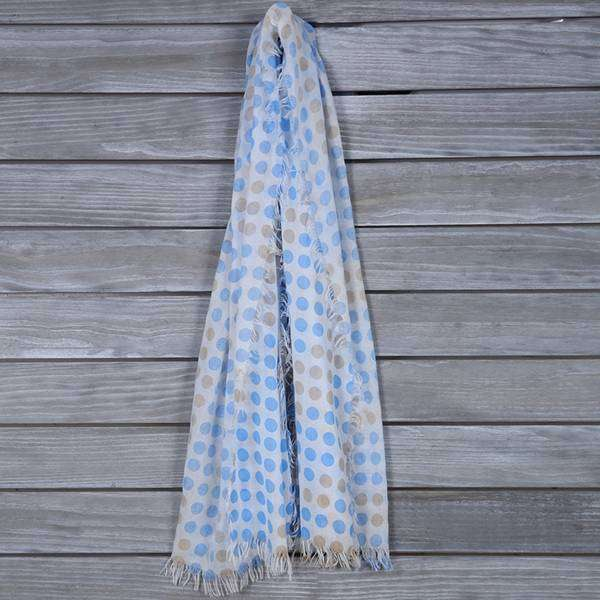 Spotted Fringe Scarf,Light Scarves,Mad Style, by Mad Style