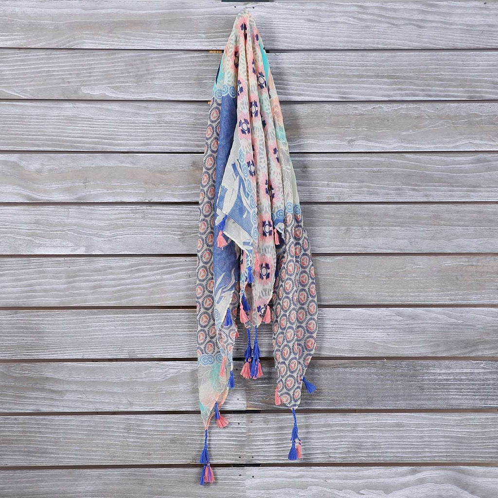 Square Tassel Scarf,Light Scarves,Mad Style, by Mad Style