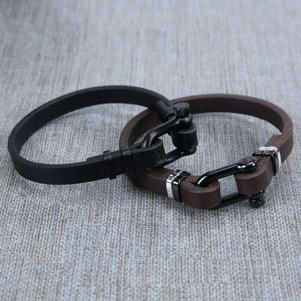 Stirrup And Leather Bracelet