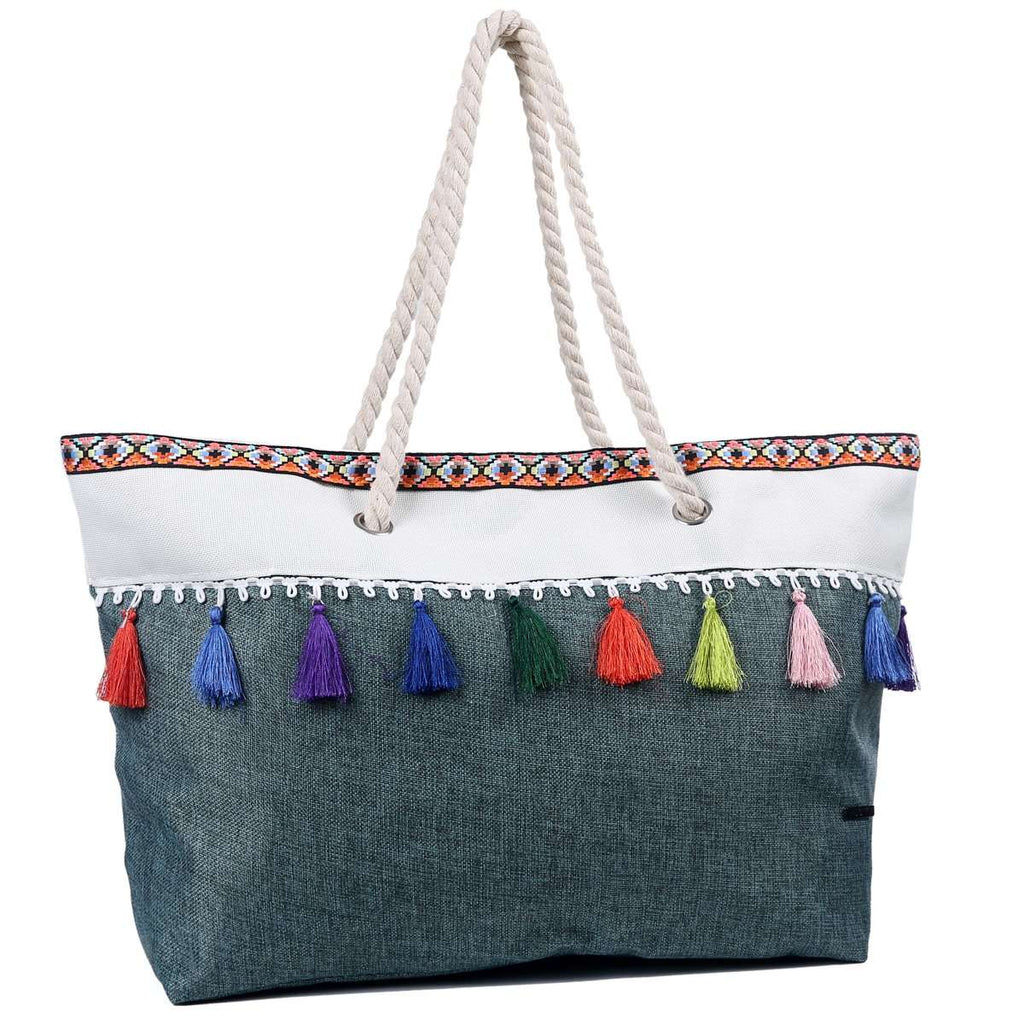 Straight Drape Tassel Tote Bag,Totes,Mad Style, by Mad Style