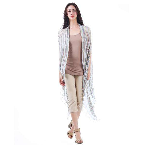 Stripe Dual Scarf Shawl,Light Scarves,Mad Style, by Mad Style