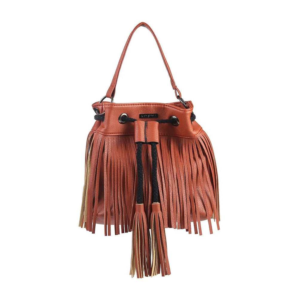 Tassel Bucket Handbag,Totes,Mad Style, by Mad Style
