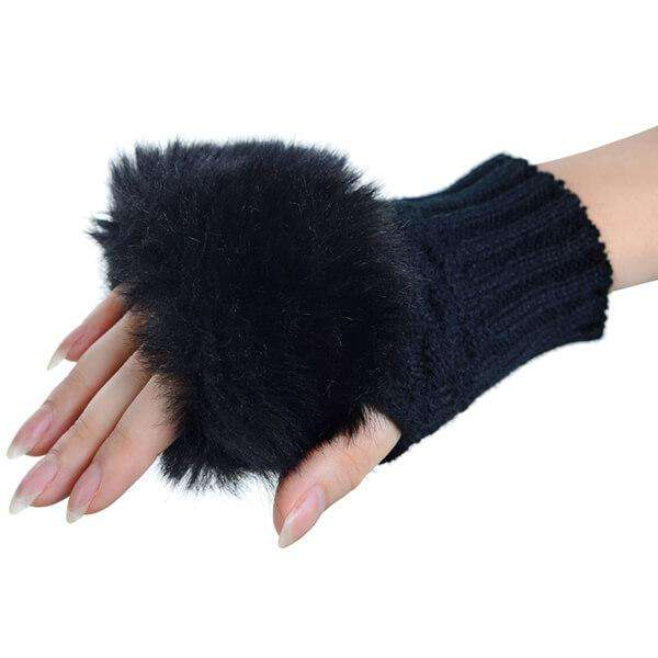 Texting Fur Gloves