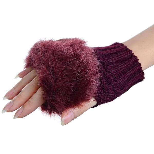 Texting Fur Gloves,Winter Accessories,Mad Style, by Mad Style