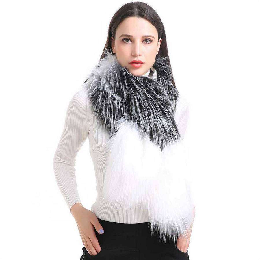 Threaded Color Block Boa,Heavy Scarves,Mad Style, by Mad Style