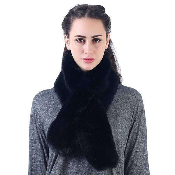 Threading Faux Fur Boa Scarf