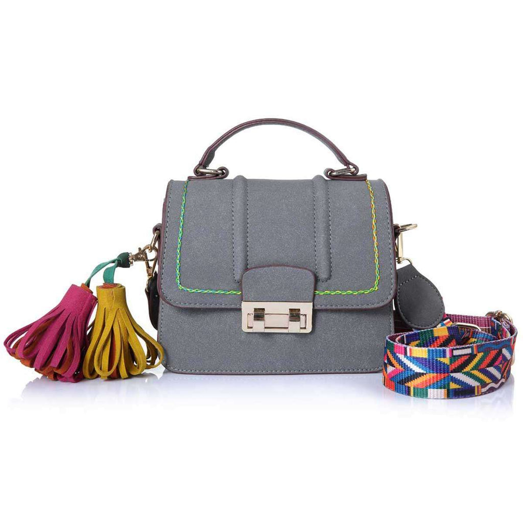 Top Handled Tassel Satchel