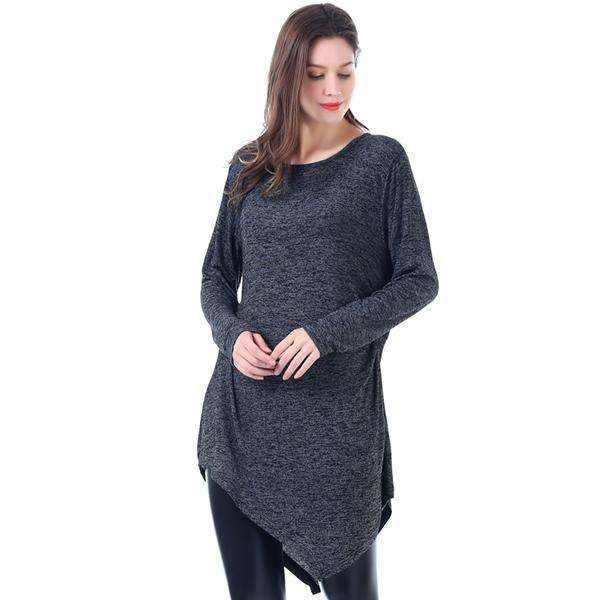 Twist French Terry Long Pullover Poncho,Tops,Mad Style, by Mad Style