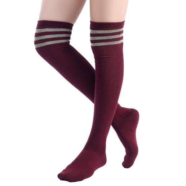 Varsity Over the Knee Sock,Bottoms,Mad Style, by Mad Style