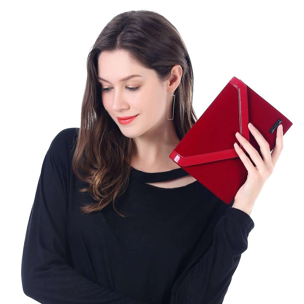 Velvet Roll Clutch Bag,Clutches,Mad Style, by Mad Style