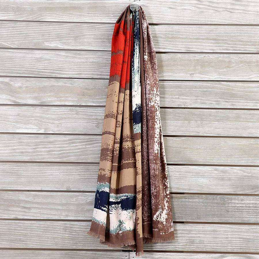 Vivid Multicolor Scarf,Heavy Scarves,Mad Style, by Mad Style