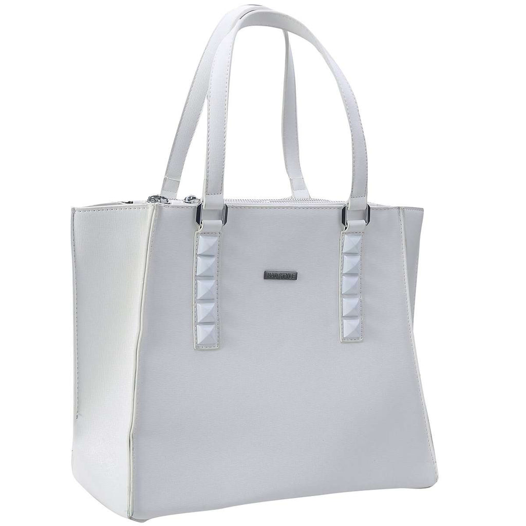 White Cassie Tote Bag