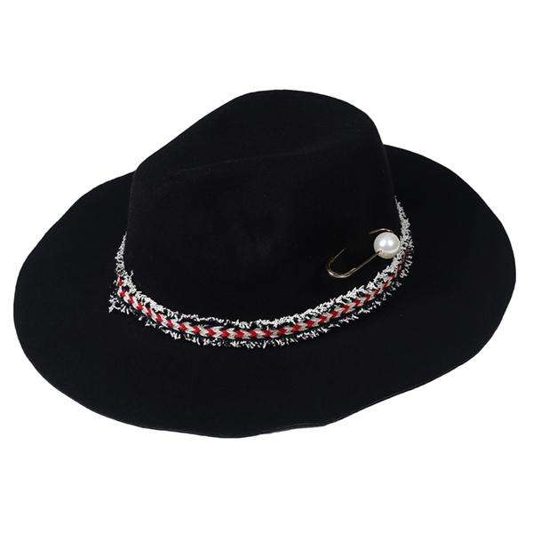 Wide Brim Banded Fedora Hat,Hats and Hair,Mad Style, by Mad Style