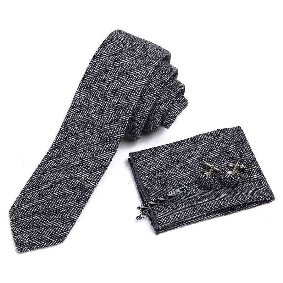 Wool Men's Tie Boxed Set,Ties,Mad Man, by Mad Style