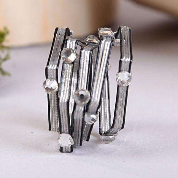 Wrap Ring With Crystals,Rings,Elly, by Mad Style
