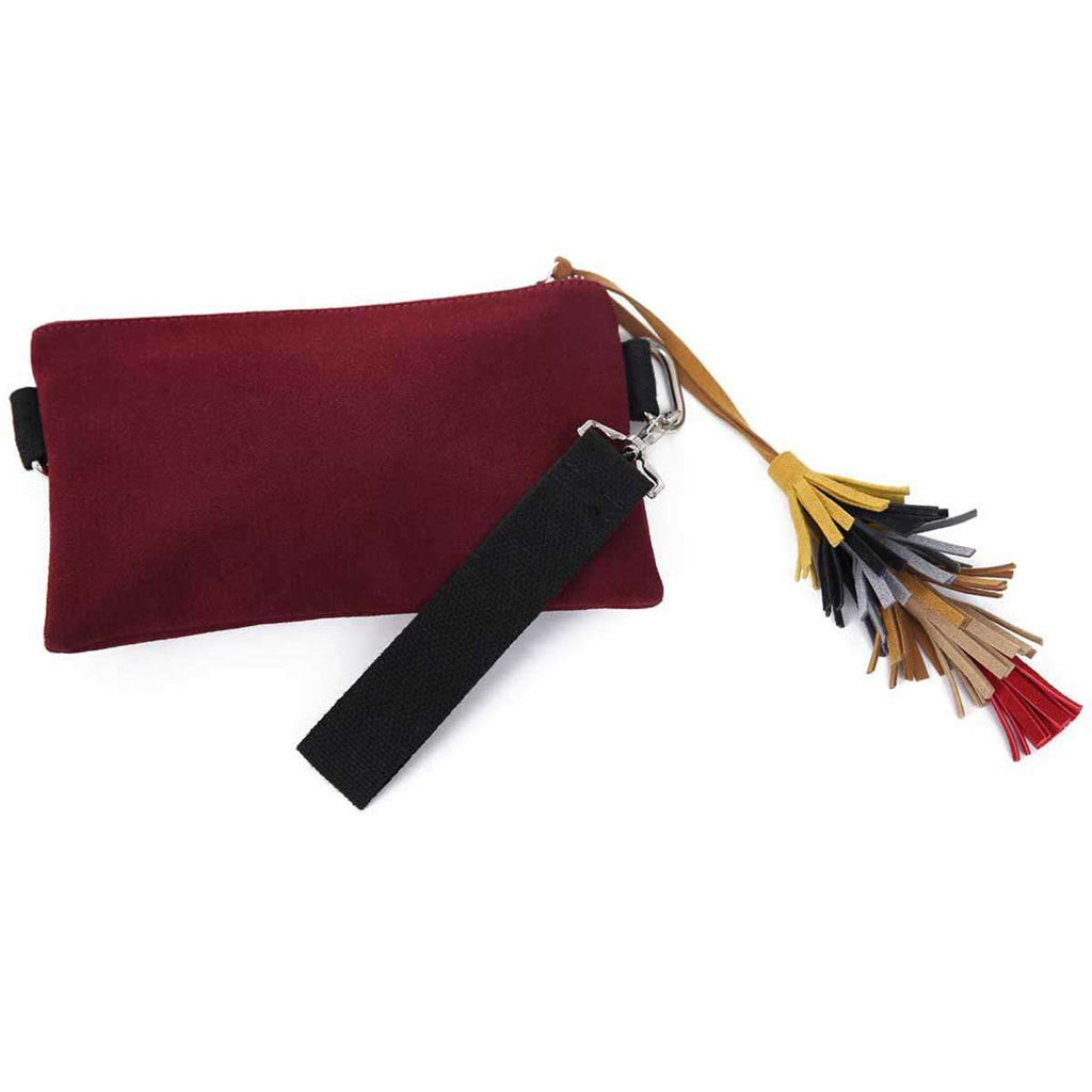 Wristlet Clutch With Tassels,Clutches,Mad Style, by Mad Style