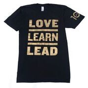 Limited Edition Love Learn Lead Black and Gold T-Shirt
