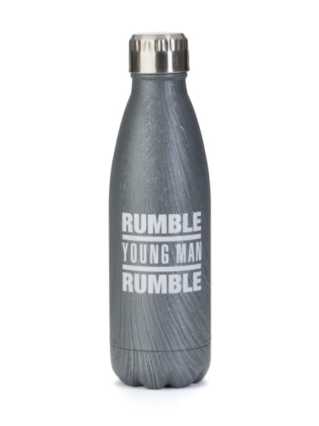 Rumble Young Man Rumble 16 oz Hot/Cold Woodtone Bottle Silver