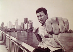 Muhammed Ali Art Portrait Print Louisville The Greatest Picture