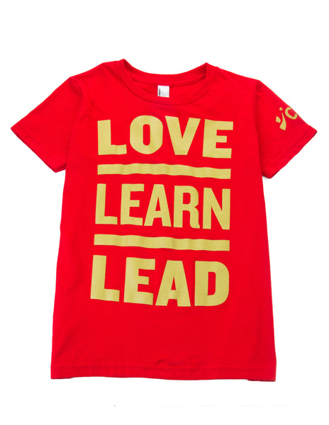 CBMA Love Learn Lead T-Shirt Adult Unisex Red/Gold