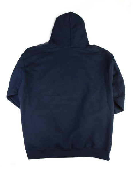 CBMA Hoodie Swearshirt Unisex Navy/White Back View