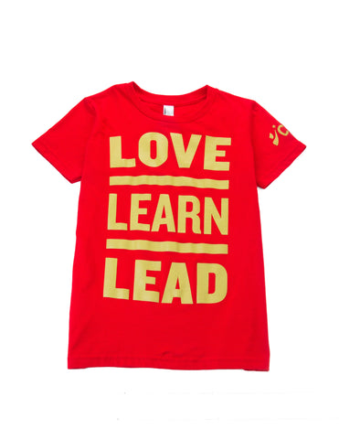 CBMA Love Learn Lead T-Shirt Youth Unisex Red/Gold