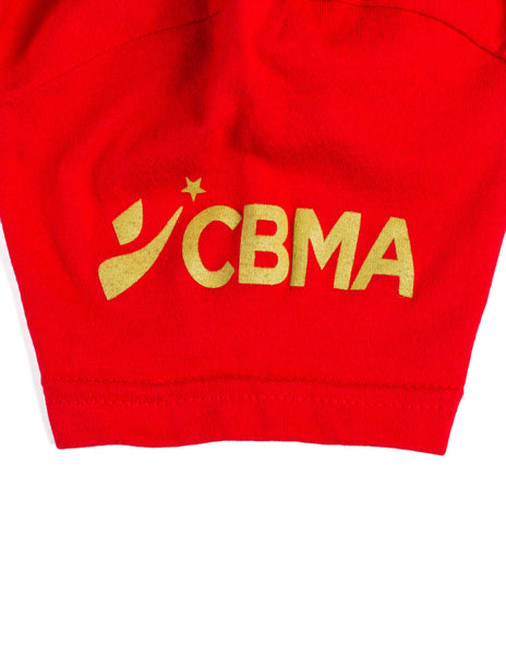 CBMA Love Learn Lead T-Shirt Unisex Red/Gold Sleeve View