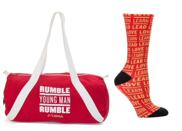 Duffel Bag Rumble Young Man Rumble And Love Learn Lead Socks