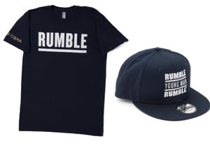 Collage Rumble Young Man Rumble T-Shirt and SnapBack Hat