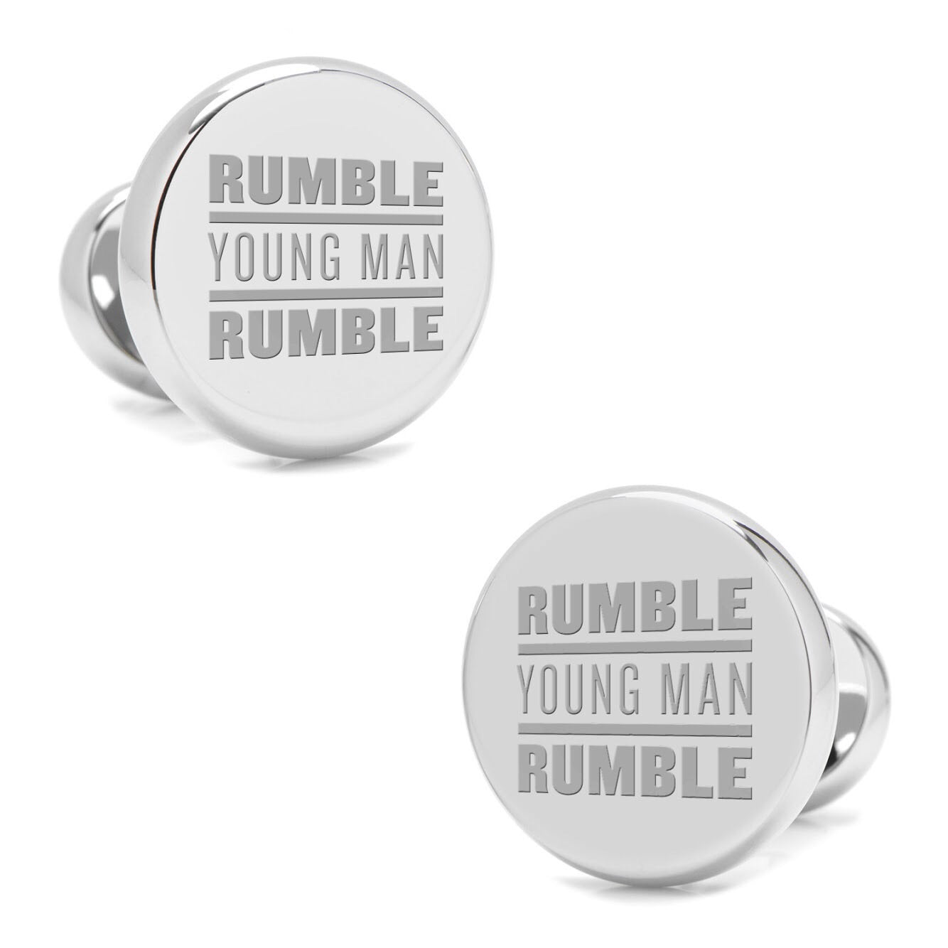 Rumble Young Man Rumble Silver Cuff Links