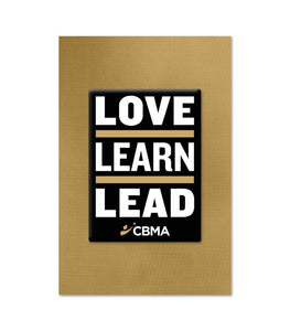 Limited Edition Love Learn Lead Lapel Pin