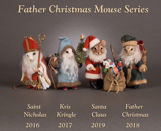 Father Christmas Mice Series - 4 piece set