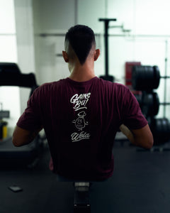 All Day Training Tee - White Script