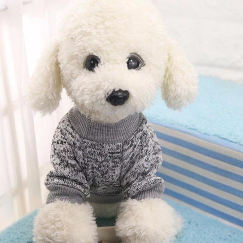 CLASSIC PUPPY DOG COZY WINTER SWEATER for Small Dogs