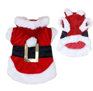 CHRISTMAS FESTIVE SANTA CLAUSE PUPPY COSTUME