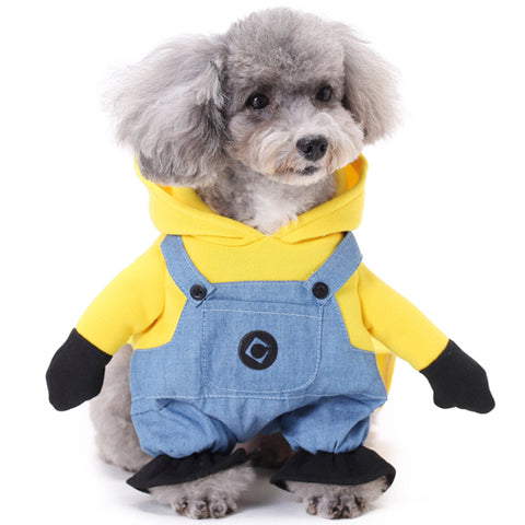 CUTE MINION PUPPY DOG HALLOWEEN COSTUME