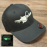 Led fishing light glow in the dark hat. Great for night snook fishing in style.