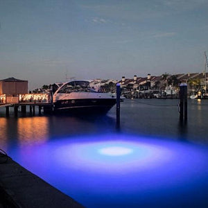 Brightest LED Underwater Dock Light Mega Watt Blue
